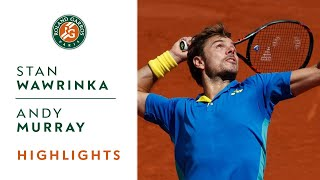 Stan Wawrinka v Andy Murray Highlights - Men's Semi-Final 2017 | Roland-Garros