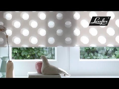 Twist® Shades in Designer Shapes Swing from Luxaflex®