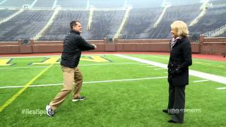 Jim Harbaugh on the Michigan sidelines as a kid: Real Sports Trailer (HBO)