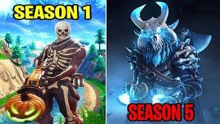 SEASON 1 vs SEASON 5 (Old Fortnite Nostalgia & Gameplay)