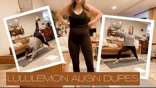 HONEST Lululemon Align Dupe Review from a Yoga Teacher