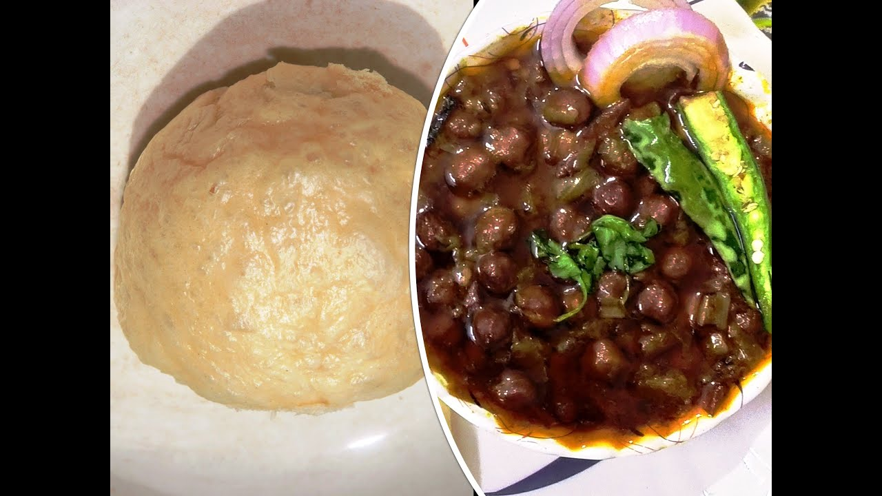 Instant Chole Bhature   Street food recipe   Bhature ...