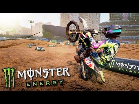 FIZ UM SALTO ÉPICO de MOTOCROSS!!! - Monster Energy SuperCross