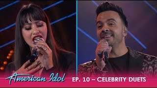 Michelle Susset & Luis Fonsi Sing LOVE Song For Venezuela - OH.MY.GOD!  | American Idol 2018