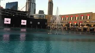 Dubai Mall fountain. Song by Enrique Iglesias