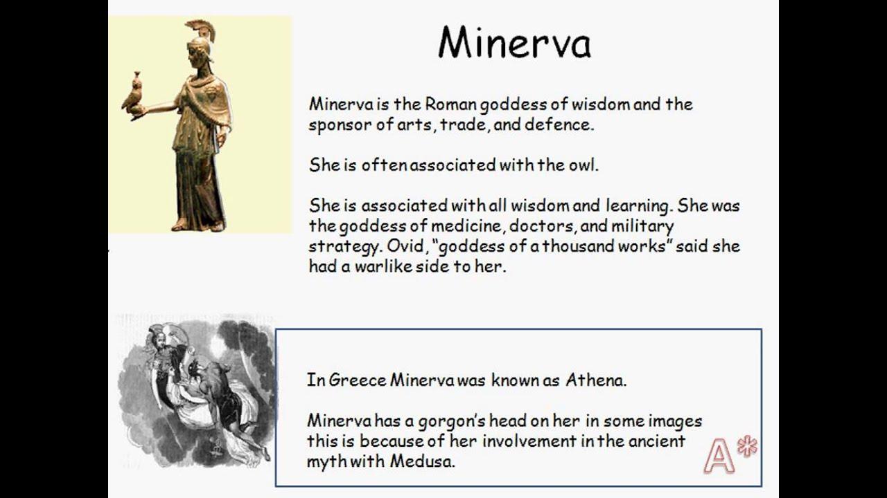 minerva roman goddess youtube