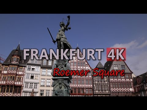 Ultra HD 4K Frankfurt Travel Roemer Square Tourist Attractions Germany Tourism Video Stock Footage