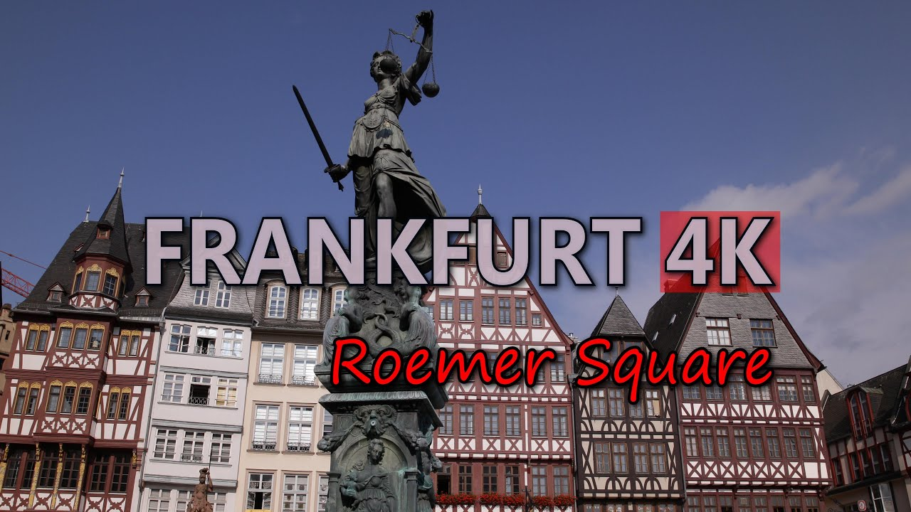 Ultra hd 4k frankfurt travel roemer square tourist attractions germany tourism video stock footage youtube