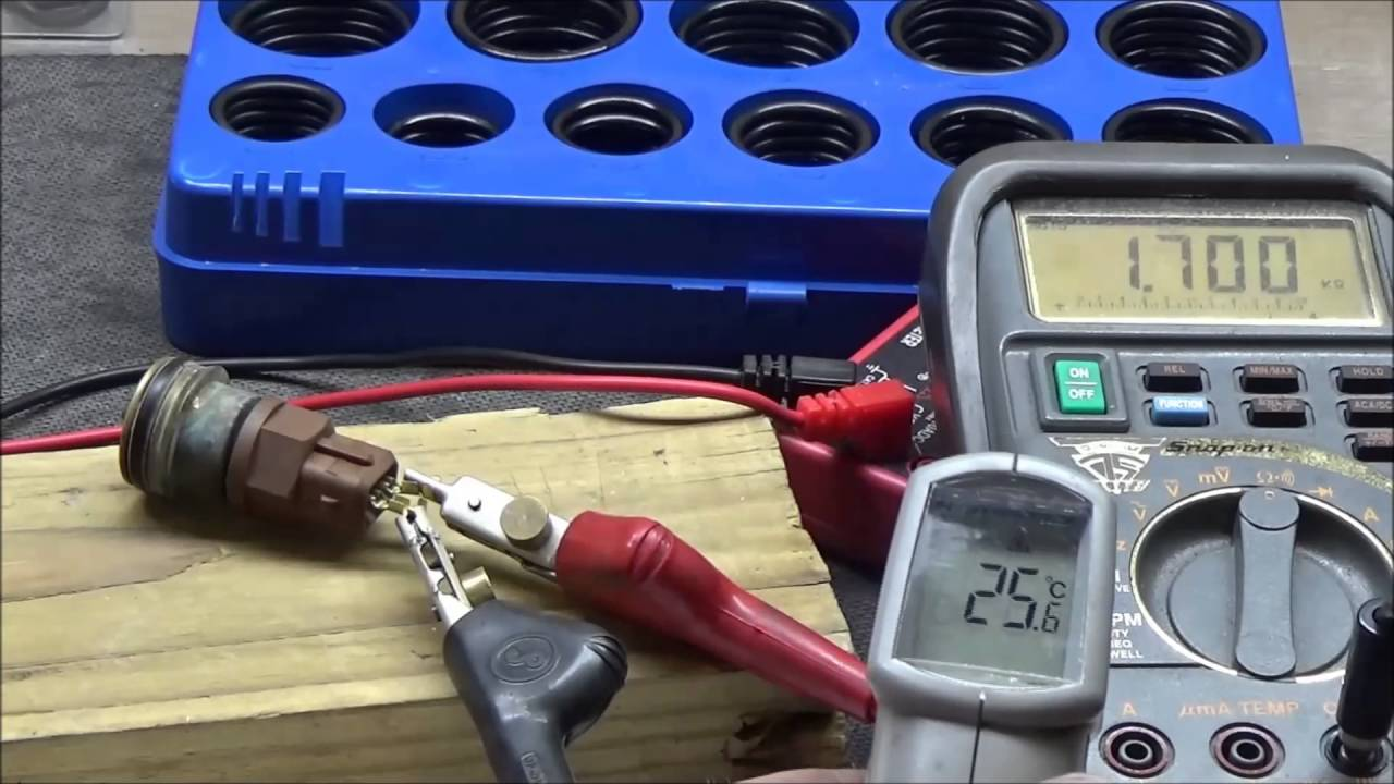 medium resolution of how to test a ect engine coolant temperature sensor s sweeping ability youtube
