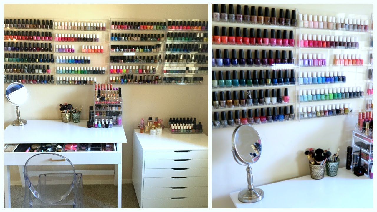 Nail Polish Collection + Nail Art Storage!!! | MissJenFABULOUS - YouTube