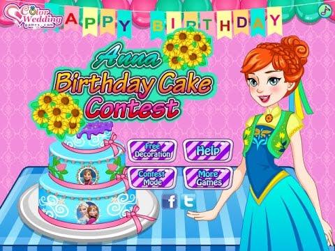 Frozen Anna Birthday Cake Contest - Disney Princess Games - YouTube