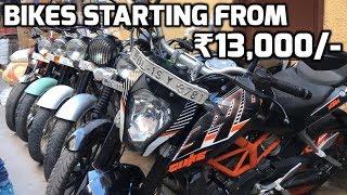 BIKES STARTING FROM RS.13,000/- (SECOND HAND BIKE MARKET - KTM, PULSAR, APACHE ) KAROL BAGH, DELHI .