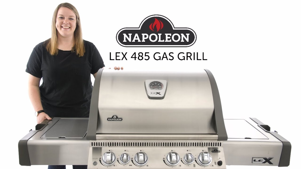 Napoleon Lex 485 Gas Grill Review Bbqguyscom Youtube