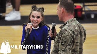 Soldier and daughter stun audience with national anthem | Militarykind