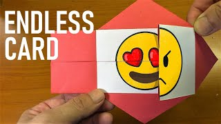 Emoji Face Changer DIY Paper Endless Card|Funny Things You Should Try To Do At Home
