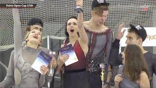 Senior Ice Dance Awards Ceremony - Volvo Open Cup 2018 - November 08, 2018