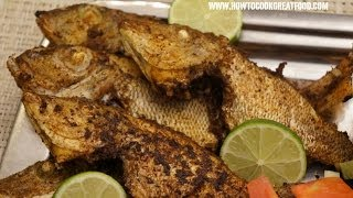 Middle Eastern Food - Fried Sheri Fish Masala Arabic Style Cooking How To Cook Great Sumac