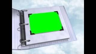 Футаж Детский Альбом Открывается с зеленым фоном