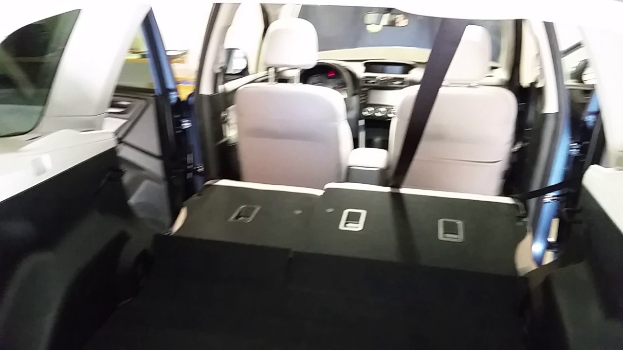 2017 subaru forester suv checking cargo area space with back seats folded down youtube. Black Bedroom Furniture Sets. Home Design Ideas