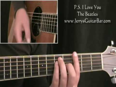 How To Play The Beatles Ps I Love You Intro Only Youtube