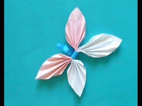 Смотреть Бабочка из бумаги Просто Своими руками Butterfly paper