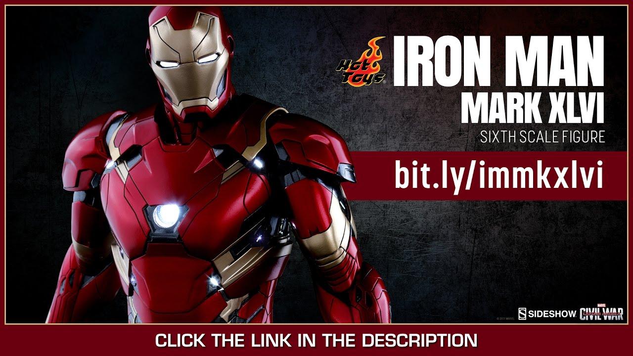 osw.zone Captain America Civil War Hot Toys Mark XLVI Iron Man Power Pose 1/6 Scale Figur...