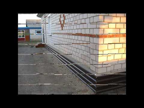 Укрепление фундамента частного дома своими руками видео