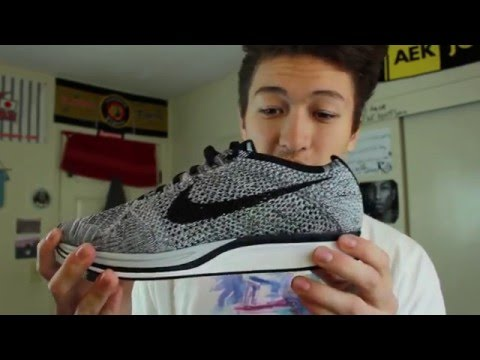 c95cf8fa910f Nike Flyknit Oreo Review    Cookies and Cream On Foot   Review   - YouTube