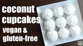 coconut cupcakes (vegan & gluten-free) Something Vegan