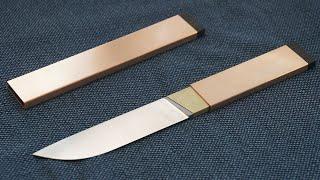 Knife Making - Copper Sheath Knife