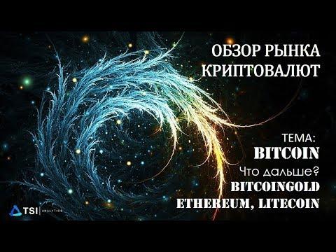 Bitcoin, BitcoinGold, Ethereum, Litecoin | Обзор TSI Analytics