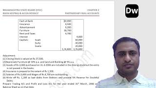 Lecture 12 - Partnership Final Accounts Part 12 - Account - 12th Commerce - Maharashtra State Board