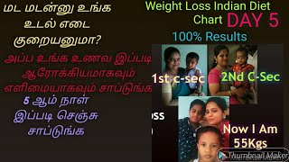 Diet Chart In Tamil For Weight Loss/Weight Loss  Indian Diet Chart In Tamil/Diet Tips In Tamil/Day 5