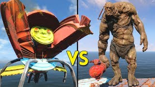 Fallout 4 - 15 CAROUSELS vs 15 BEHEMOTHS - Battles #72