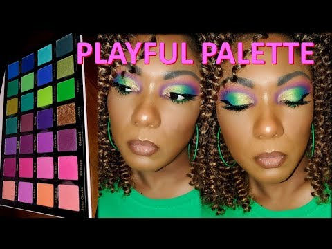 LICK AND LASH PLAYFUL PALETTE!!! Eye Look & Swatches!!! thumbnail
