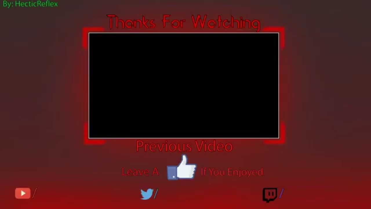 Outro template free youtube for Free outro template
