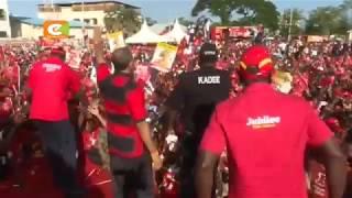 Rais Kenyatta aongoza kikosi chake Makueni, Kilifi