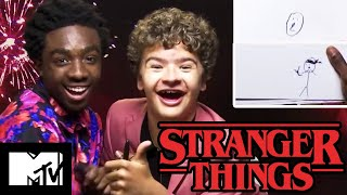 Stranger Things 3 Stars Gaten Matarazzo & Caleb McLaughlin Play Stranger Pictionary