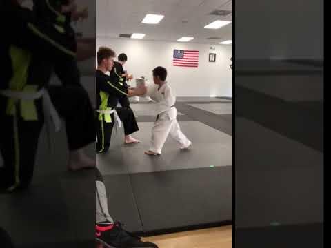 My son at Karate