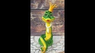 Змея принцесса из мастики ( короткая версия )
