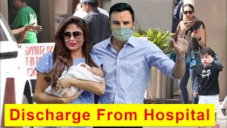 Kareena Kapoor With Second Baby Boy Discharged From Hospital After Her Delivery