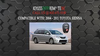 how to replace toyota sienna key fob battery 2004 2011