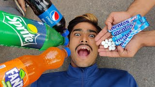 Pepsi + Sprite + Fanta vs Mentos In Mouth Experiment || What Happened Next || Experiment King