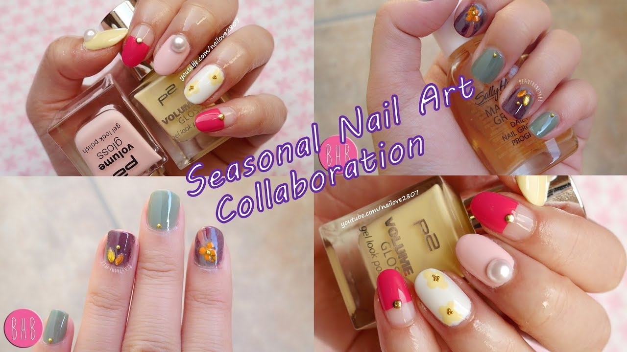 Seasonal Nail Art Collaboration With Honeybee Youtube
