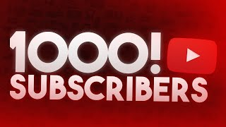 1,000 Subscriber Special!