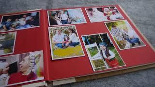 Фотоальбом в деревянной обложке  (Photo album in a wooden cover)