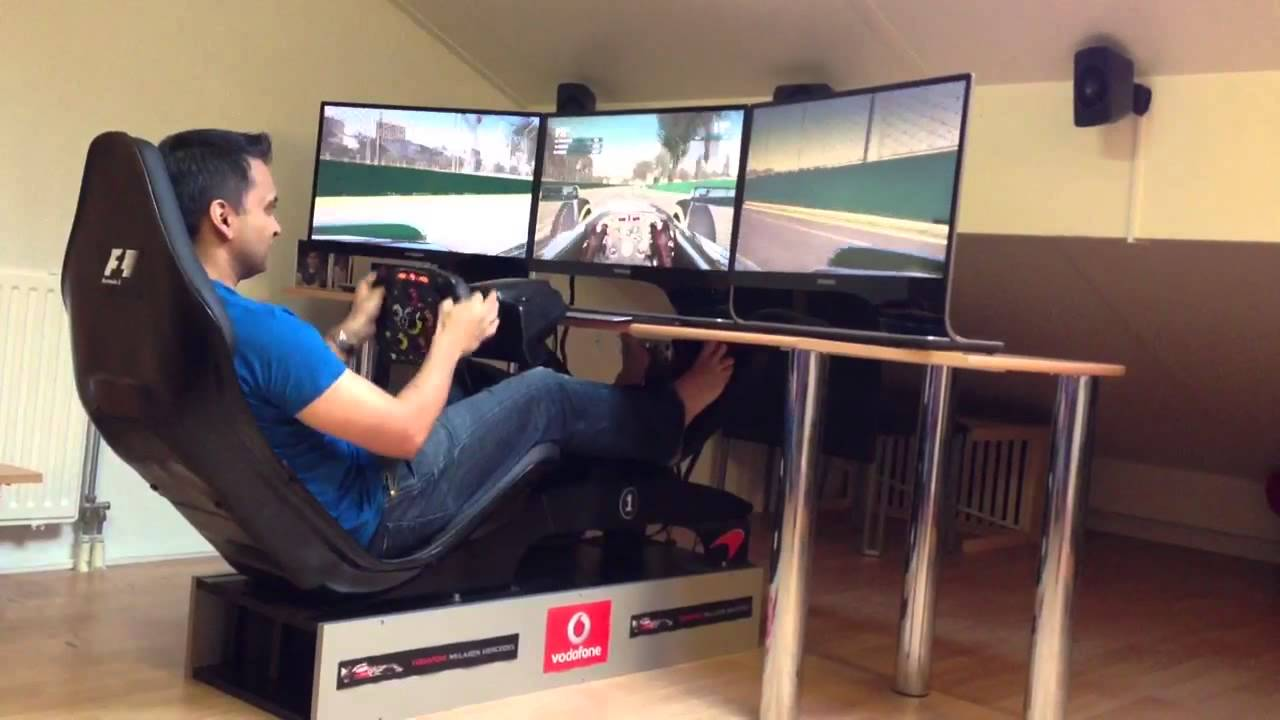 F12012 with my Playseat F1 and ROSO F1 steering wheel