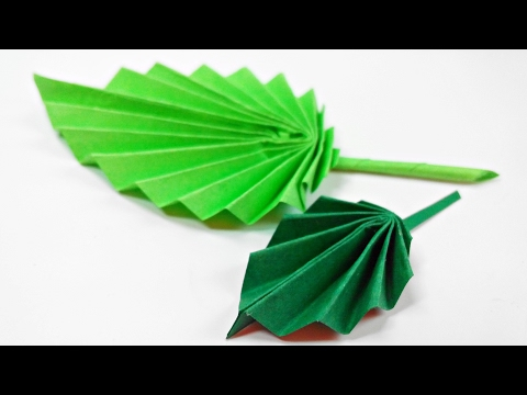 Origami leaf paper(leaves) diy design craft making tutorial easy cutting from paper step by step