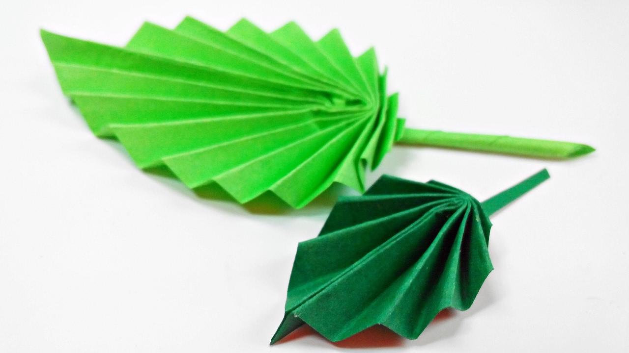 Origami leaf paper leaves diy design craft making for How to make a paper design