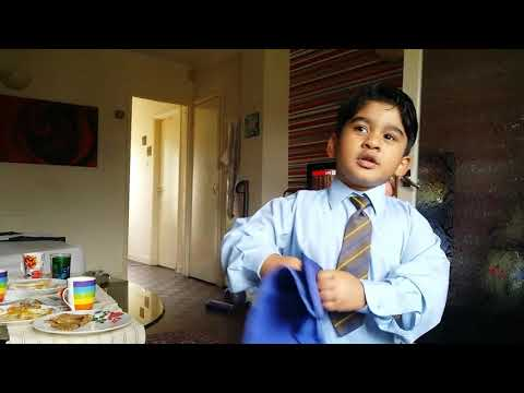 Moses first day at Reception school -Full time education(1)